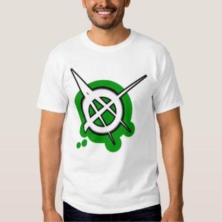 ANARCHY symbol green Tee Shirts