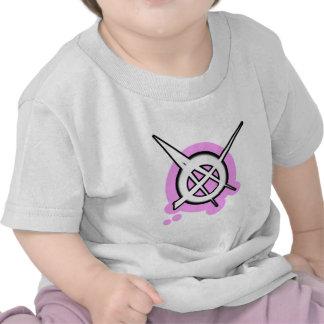 ANARCHY symbol pink T Shirts