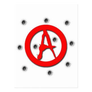 Anarchy Symbol Postcard