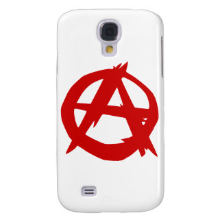 Anarchy Symbol Red A and Circle Without Ruler Galaxy S4 Case
