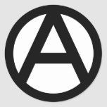 Anarchy Symbol Round Sticker