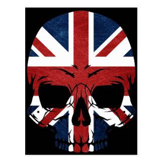 Anarchy UK Skull Flag Postcard