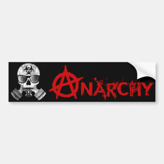 Anarchy with Skull & Gas Mask bumper sticker