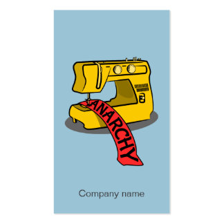 Anarchy Yellow Sewing Machine Pack Of Standard Business Cards
