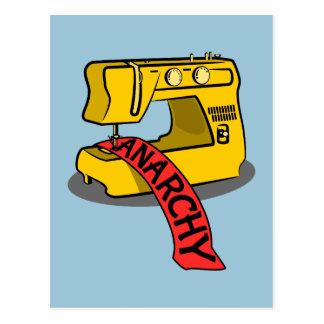 Anarchy Yellow Sewing Machine Postcard
