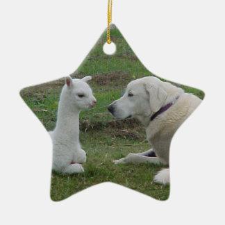 Anatolian Shepherd and Alpaca Cria Christmas Ornament