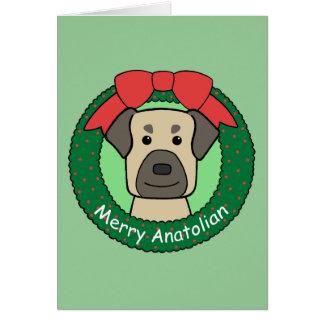 Anatolian Shepherd Christmas Greeting Card