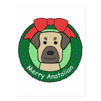 Anatolian Shepherd Christmas Postcard