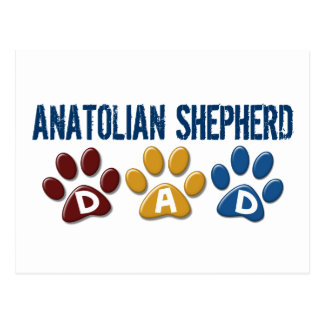 ANATOLIAN SHEPHERD DAD Paw Print Postcard