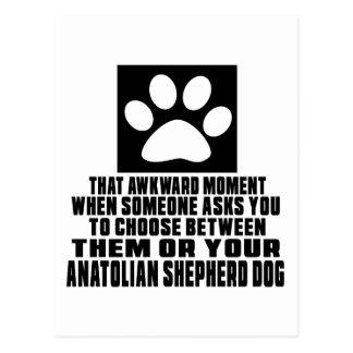 ANATOLIAN SHEPHERD DOG AWKWARD DESIGNS POSTCARD