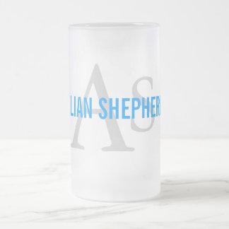 Anatolian Shepherd Dog Breed Monogram Frosted Glass Mug