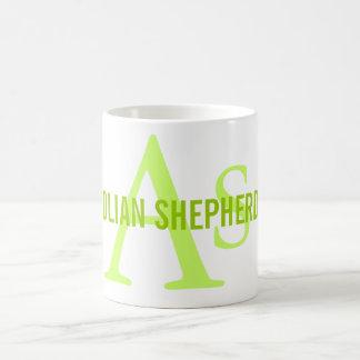 Anatolian Shepherd Dog Breed Monogram Basic White Mug