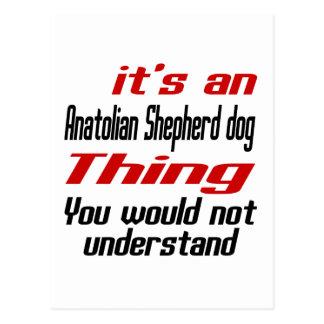Anatolian Shepherd dog Dog Thing Designs Postcard