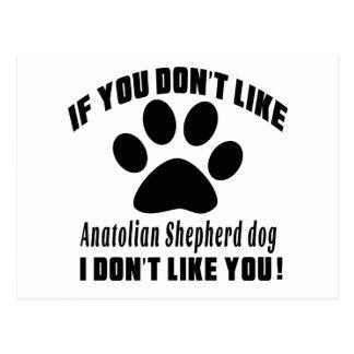 Anatolian Shepherd dog Don't Like Designs Postcard
