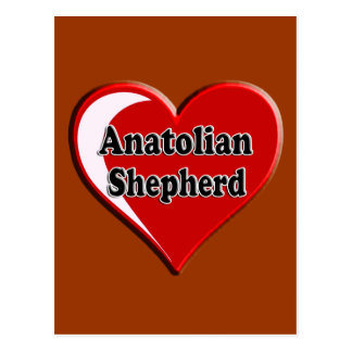 Anatolian Shepherd Dog Heart for Dog Lovers Postcard