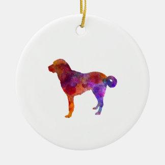 Anatolian Shepherd Dog in watercolor Christmas Ornament