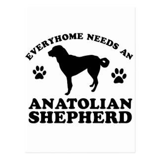 Anatolian Shepherd Dog vector design Postcard