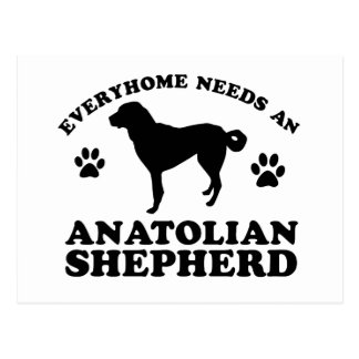 Anatolian Shepherd Dog vector design Postcard