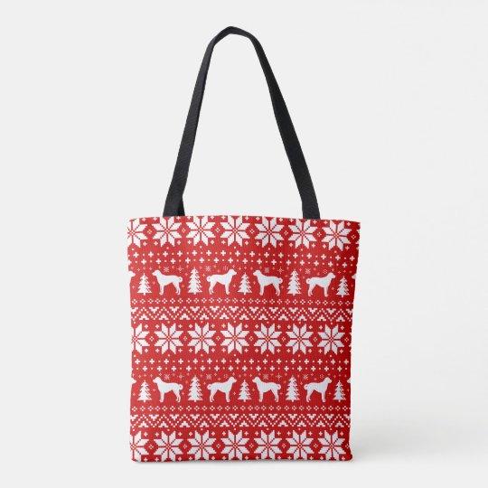 Anatolian Shepherd Dogs Christmas Pattern Tote Bag