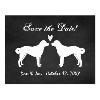 Anatolian Shepherd Dogs Wedding Save the Date Postcard