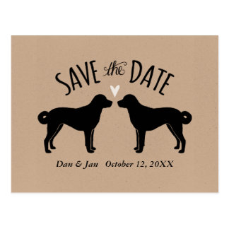 Anatolian Shepherd Dogs Wedding Save the Date Postcard