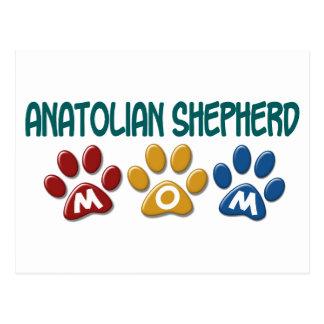 ANATOLIAN SHEPHERD MOM Paw Print Postcard