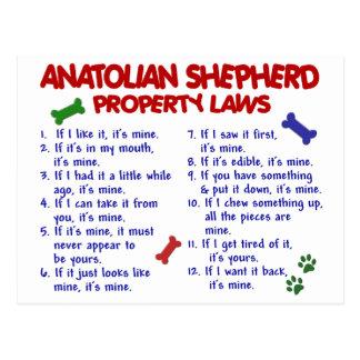 ANATOLIAN SHEPHERD Property Laws 2 Postcard