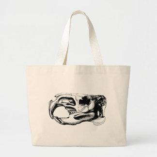 Anatomical Beaver Skull Black & White Large Tote Bag