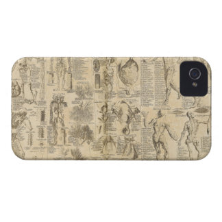 Anatomical Chart from Cyclopaedia 1728 iPhone 4 Cases