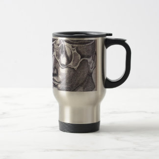 Anatomical Face with Musculature Stainless Steel Travel Mug