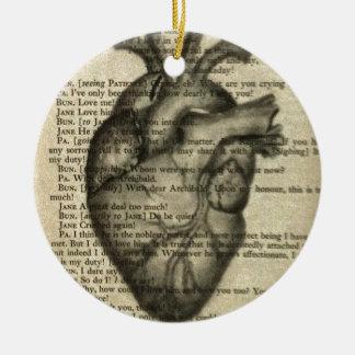 anatomical heart christmas ornament