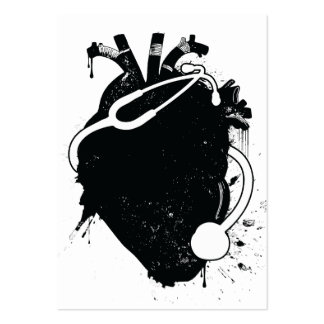 anatomical heart stethoscope pack of chubby business cards