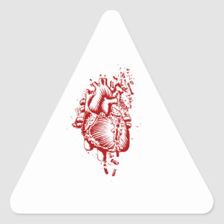 Anatomical Heart Triangle Sticker