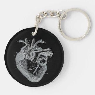 Anatomical Human Heart Goth keychain