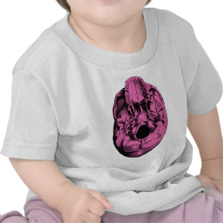Anatomical Human Skull Base Pink T-shirt