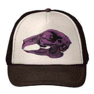 Anatomical Rabbit Skull Purple Trucker Hat