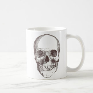 Anatomical Skull, Black/White Basic White Mug