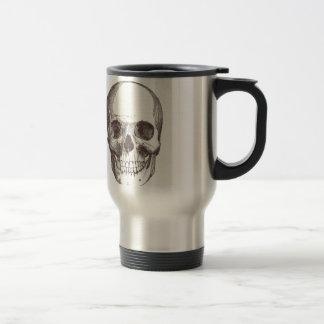 Anatomical Skull, Black/White Stainless Steel Travel Mug