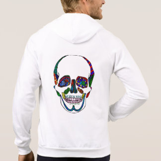 Anatomical Sugar Skull Mosaic Hooded Sweatshirt