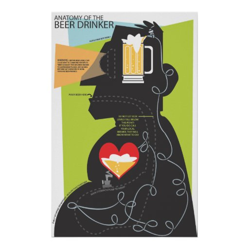 Anatomy of a Beer Drinker Poster
