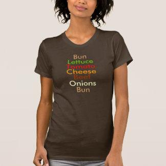 Anatomy of a Cheeseburger Tee Shirt