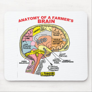ANATOMY OF A FARMER'S BRAIN MOUSE MAT