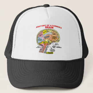 ANATOMY OF A FARMER'S BRAIN TRUCKER HAT