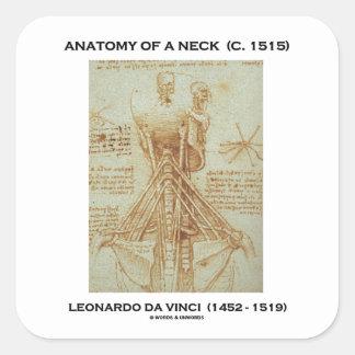 Anatomy Of A Neck c. 1515 Leonardo da Vinci Square Sticker