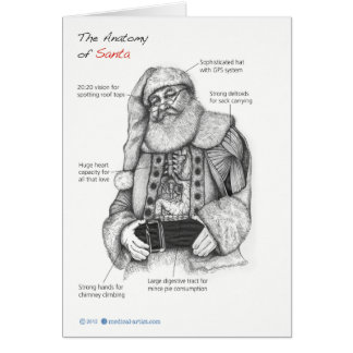 Anatomy of Santa Card
