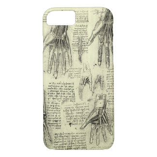 Anatomy of the Human Hand by Leonardo da Vinci iPhone 8/7 Case
