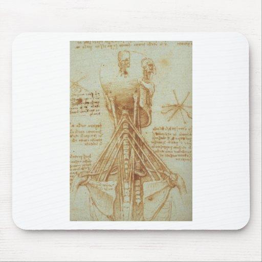Anatomy of the Neck by Leonardo Da Vinci c. 1515 Mousepad