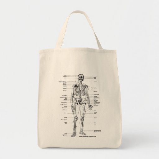 ANATOMY SKELETON T-SHIRTS AND GIFTS CANVAS BAGS