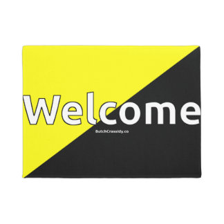 Ancap Flag Syled Welcome Mat