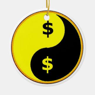Ancap Yin Yang Round Ceramic Decoration